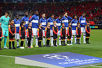 Chelsea line up before Lille OSC vs Chelsea, UEFA Champions League Football at Stade Pierre-Mauroy on 2nd October 2019