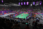 General view, <br /> AUGUST 22, 2018 - Badminton : Men's Team Final at Gelora Bung Karno Istora <br /> during the 2018 Jakarta Palembang Asian Games <br /> in Jakarta, Indonesia. <br /> (Photo by MATSUO.K/AFLO SPORT)