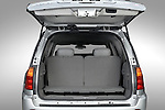 Straight rear view of a open trunk on a 2006 GMC Envoy Denali