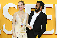 "Lily James and Himesh Patel<br /> arriving for the ""Yesterday"" UK premiere at the Odeon Luxe, Leicester Square, London<br /> <br /> ©Ash Knotek  D3510  18/06/2019"