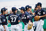 Japan Team celebrating a point during the BFA Women's Baseball Asian Cup match between South Korea and Japan at Sai Tso Wan Recreation Ground on September 2, 2017 in Hong Kong. Photo by Marcio Rodrigo Machado / Power Sport Images