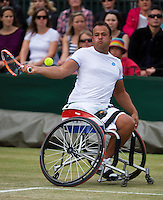 July 5, 2014, United Kingdom, London, Tennis, Wimbledon, AELTC, Wheelchairtennis, Tom Egberink (NED)<br /> Photo: Tennisimages/Henk Koster