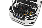 Car stock 2015 Subaru Base Impreza 5 Door Hatchback engine high angle detail view