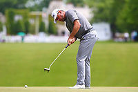 Lee Westwood putts on the 1st green during the BMW PGA Golf Championship at Wentworth Golf Course, Wentworth Drive, Virginia Water, England on 28 May 2017. Photo by Steve McCarthy/PRiME Media Images.