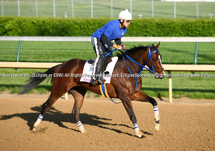 29 April 2010: Jody Slew gallops at Churchill Downs, Louisville, KY.