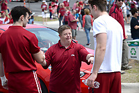 NWA Democrat-Gazette/ANDY SHUPE<br /> Arkansas Saturday, April 6, 2019, during the annual HogFest fan celebration prior to the Razorbacks' spring game in Razorback Stadium in Fayetteville. Visit nwadg.com/photos to see more photographs from the game.