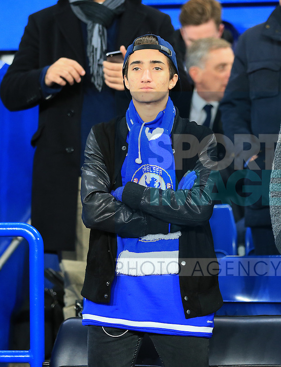 Chelsea manager Jose Mourinho's son Jose Junior looks on <br /> <br /> UEFA Champions League - Chelsea v FC Porto - Stamford Bridge - England - 9th December 2015 - Picture David Klein/Sportimage