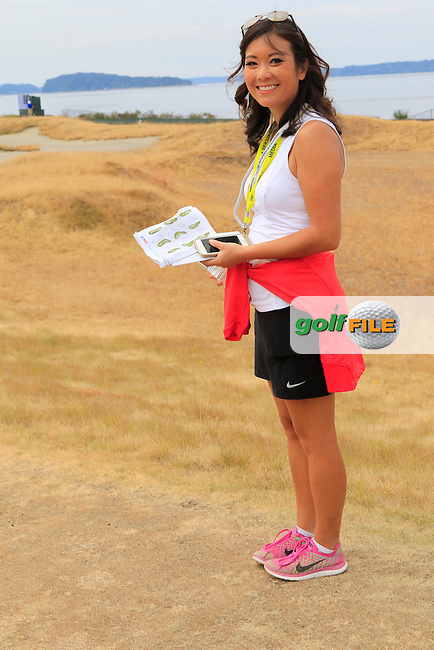 Stephanie Wei on the 16th hole during Thursday's Round 1 of the 2015 U.S. Open 115th National Championship held at Chambers Bay, Seattle, Washington, USA. 6/18/2015.<br /> Picture: Golffile | Eoin Clarke<br /> <br /> <br /> <br /> <br /> All photo usage must carry mandatory copyright credit (&copy; Golffile | Eoin Clarke)