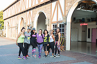Martha Rojas, Jhon Gonzalez, Gena Kim, Adely Rodriguez, Joy Taniguchi, Soraya Maman and Veronica Ferrante attend Zumba and Yoga at LA Mother on May 10, 2016 (Photo by Inae Bloom/Guest of a Guest)