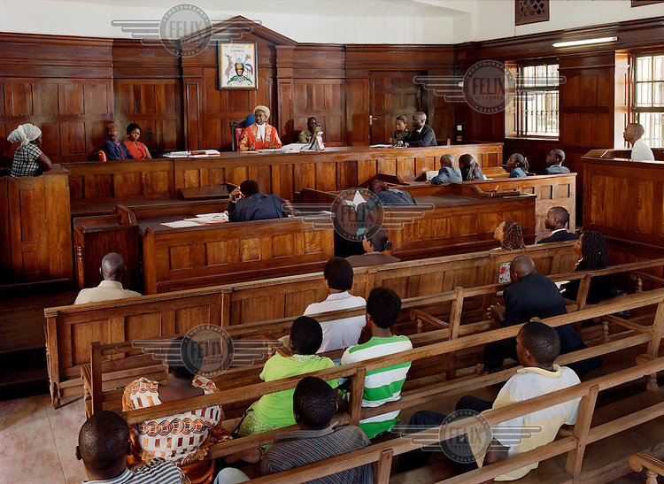 Kampala High Court in session, presided over by Judge Benjamin Kabiito.