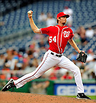 5 July 2009: Washington Nationals' relief pitcher Mike MacDougal closes out the game against the Atlanta Braves at Nationals Park in Washington, DC. The Nationals defeated the Braves 5-3 to take the rubber game of their 3-game weekend series. Mandatory Credit: Ed Wolfstein Photo