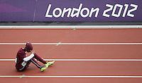 Noor Hussain Al-Malki Qatar  .London 03/08/2012 .London 2012 Olympic games  - Women s 100m Heat of Athletics. - Olimpiadi Londra 2012 - 100m Donne Atletica.Foto Imago / Insidefoto.ITALY ONLY..