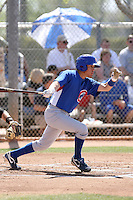 Logan Watkins, Chicago Cubs minor league spring training..Photo by:  Bill Mitchell/Four Seam Images.
