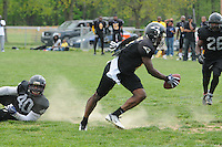 The Cecil County Raiders take on the Baltimore Pirates during a semi-pro football game in Elkton, Maryland
