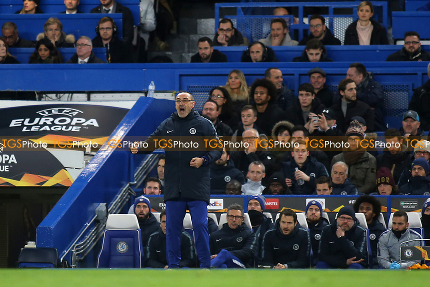 Chelsea Manager, Maurizio Sarri during Chelsea vs PAOK Salonika, UEFA Europa League Football at Stamford Bridge on 29th November 2018