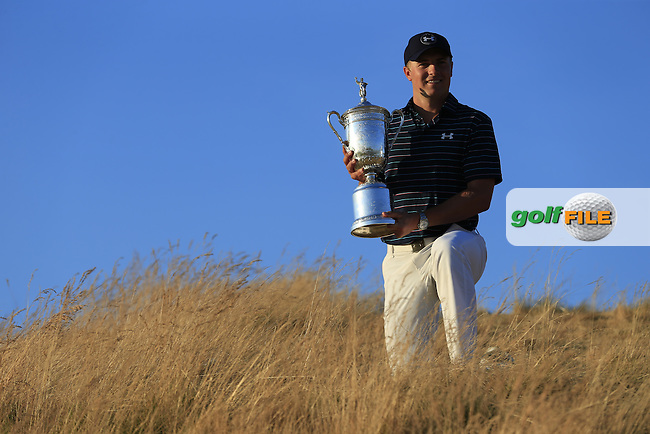 Jordan Speith (USA) wins the 115th 2015 U.S. Open Championship at the end of Sunday's Final Round of held at Chambers Bay, Seattle, Washington, USA. 6/22/2015.<br /> Picture: Golffile | Eoin Clarke<br /> <br /> <br /> <br /> All photo usage must carry mandatory copyright credit (&copy; Golffile | Eoin Clarke)