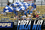 12 Jun 2004: Visiting Kansas City Wizards fans make their presence known before the game. The Columbus Crew and Kansas City Wizards tied 2-2 at Crew Stadium in Columbus, OH during a regular season Major League Soccer game..