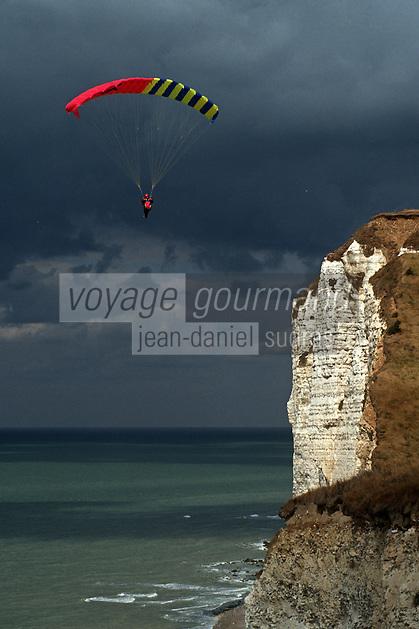 Europe/France/Normandie/Haute-Normandie/76/Seine-Maritime/Fécamp: Parapente