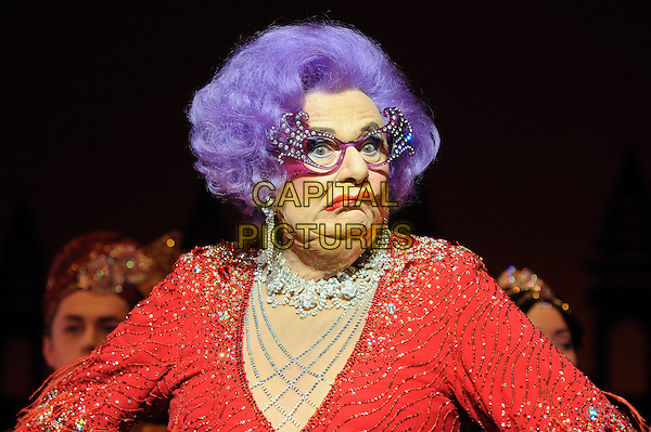 LONDON, ENGLAND - NOVEMBER 13:  Barry Humphries brings Dame Edna Everage to London as part of his farewell tour at the London Palladium on November 13, 2013 in London, England<br /> rCAP/BEL<br /> &copy;Tom Belcher/Capital Pictures