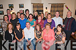 JOINT 40TH: Husband and wife Paudie and Eileen Dineen, Headford, Killarney (seated centre), celebrated their joint 40th birthdays with family and friends in the Kerry Way Bar, Glenflesk, on Saturday night.   Copyright Kerry's Eye 2008
