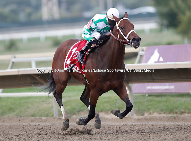 September 20, 2014:  Favorite Tale, John Bisono up, wins the Grade III Gallant Bob Stakes at Parx Racing in Bensalem, PA. Trainer is Guadalupe Preciado. Owner is PJG Stables. Joan Fairman Kanes/ESW/CSM
