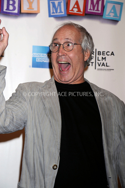 WWW.ACEPIXS.COM . . . . .....April 23, 2008. New York City.....Actor Chevy Chase attends the 7th Annual Tribeca Film Festival's 'Baby Mama' Premiere at the Ziegfeld Theatre. ..  ....Please byline: Kristin Callahan - ACEPIXS.COM..... *** ***..Ace Pictures, Inc:  ..Philip Vaughan (646) 769 0430..e-mail: info@acepixs.com..web: http://www.acepixs.com