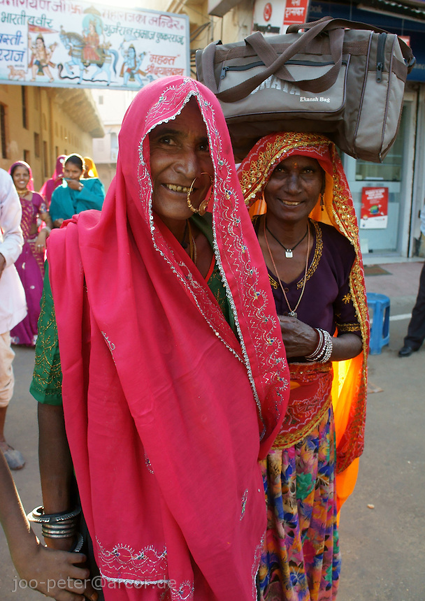 women visiting camel fair in Pushkar, Rajastan, India
