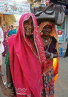 women visiting camel fair in Pushkar, Rajastan, India