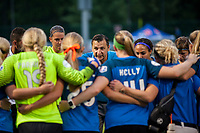 Kansas City, MO - Saturday July 22, 2017: Vlatko Andonovski during a regular season National Women's Soccer League (NWSL) match between FC Kansas City and the North Carolina Courage at Children's Mercy Victory Field.