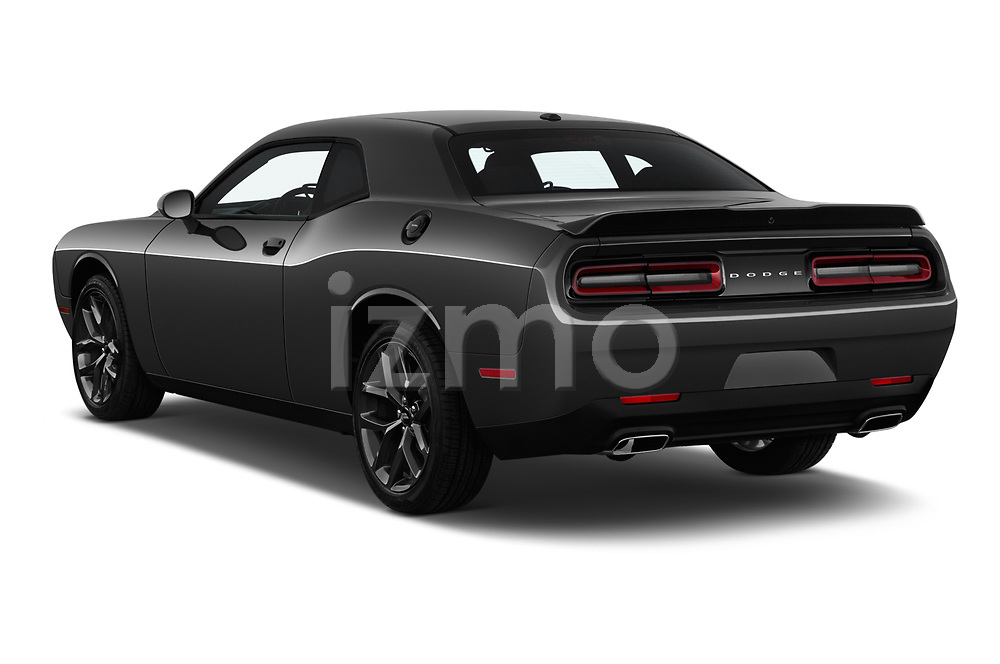 Car pictures of rear three quarter view of a 2019 Dodge challenger SXT 2 Door Coupe angular rear