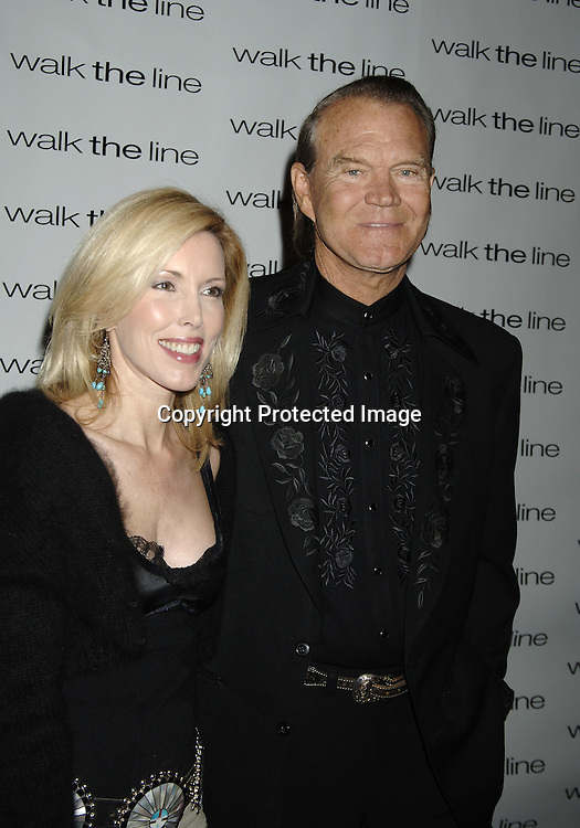 """Kim and Glen Campbell ..at The New York Premiere of """"Walk The Line"""" on November 13, 2005 at The Beacon Theatre. ..Photo by Robin Platzer, Twin Images"""
