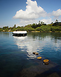 A view from the USS Arizona Memorial site at Pearl Harbor, Hawaii