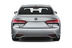 Straight rear view of a 2019 Lexus LS  Executive 4 Door Sedan stock images