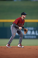 AZL Dbacks shortstop Cam Coursey (4) during an Arizona League game against the AZL Cubs 2 on June 25, 2019 at Sloan Park in Mesa, Arizona. AZL Cubs 2 defeated the AZL Dbacks 4-0. (Zachary Lucy/Four Seam Images)