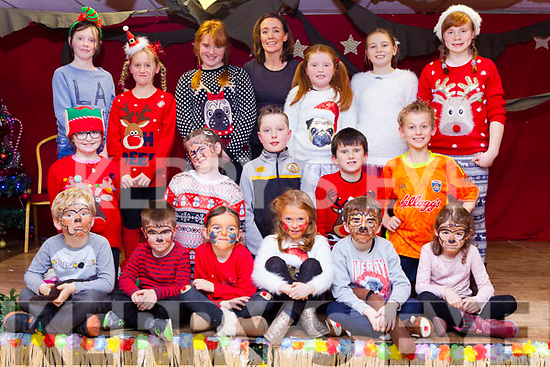 Children from the Sharon Costello Speech and Drama Class took part in their annual Christmas show on Monday evening in the Clubrooms, Castlegregory. Pictured front l-r were: Eoin Kenny Coote, Tadhg O'Neill, Evie Fields, Andrea Fitzgerald, James O'Connor and Clodagh Ray. Middle row l-r were: Ashley Maunsell, Mia Dennehy, Adam O'Brien, Jack O'Connor and Josh Roberts. Back l-r were: Alanah Whelan, Anna Roberts, Chloe Fitzgerald, Sharon Costello (teacher), Katie Crean, Molly McSweeney and Caitlin Smith.