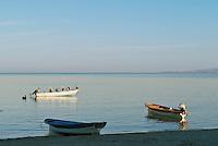 Boats on beach at Sea of Cortez, La Paz, Baja, Mexico