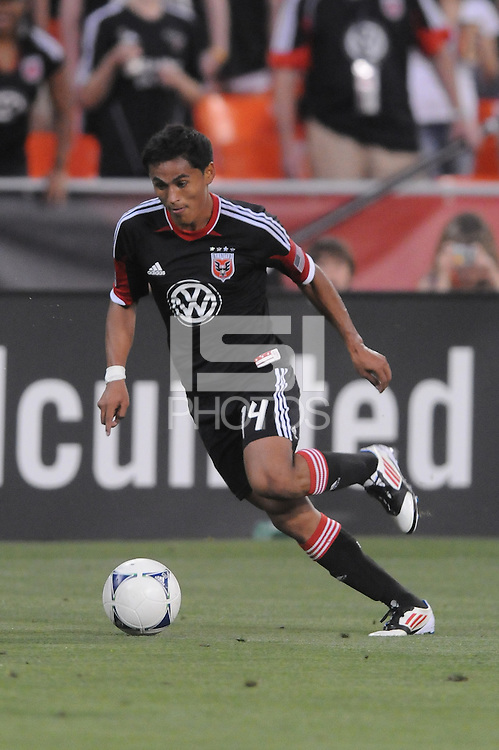 D.C. United midfielder Andy Najar (14)  D.C. United defeated the Colorado Rapids 2-0 at RFK Stadium, Wednesday May 16, 2012.