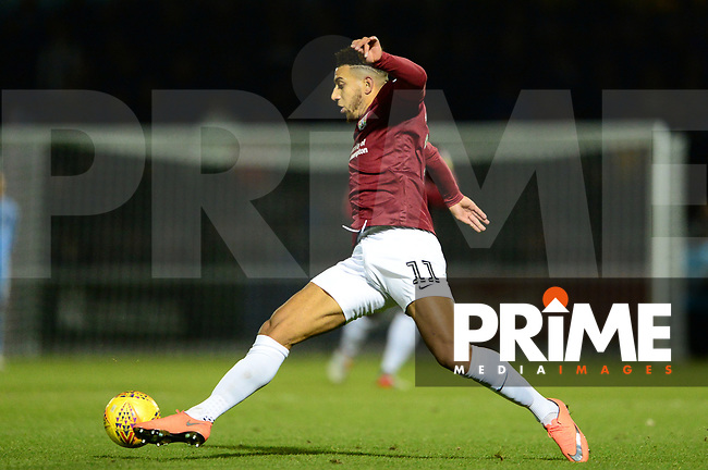 Daniel Powell of Northampton in action during the Sky Bet League 2 match between Northampton Town and Grimsby Town at Sixfields Stadium, Northampton, England on 24 November 2018. Photo by Bradley Collyer / PRiME Media Images.
