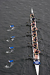 Lake Washington Rowing Club, Master's mixed eight oared racing shell, winning Opening Day Regatta, Windermere Cup, Seattle, Washington,