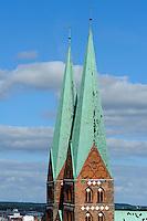 St.Marien-Kirche in Lübeck, Schleswig-Holstein, Deutschland,  Unesco-Weltkulturerbe
