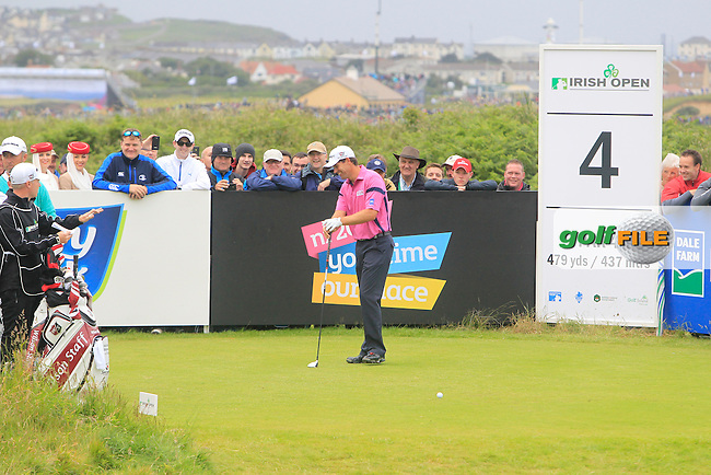 Padraig Harrington (IRL) on the 4th during round 4 of the Irish Open at Royal Portrush GC,Portrush,County Antrim,Ireland. 1/7/12.Picture Fran Caffrey www.golffile.ie