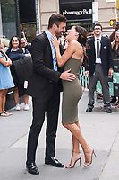 NEW YORK, NY - AUGUST 7: Becca Kufrin and Garrett Yrigoyen  at BUILD SERIES on August 7, 2018 in New York City. <br /> CAP/MPI99<br /> &copy;MPI99/Capital Pictures