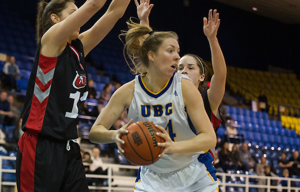 VANCOUVER,BC:FEBRUARY 19, 2016 -- UBC Thunderbirds University of Winnipeg Wesmen during CIS Canada West women's basketball action at UBC in Vancouver, BC, February, 19, 2016. (Rich Lam/UBC Athletics Photo) <br /> <br /> ***MANDATORY CREDIT***