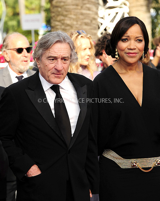 WWW.ACEPIXS.COM . . . . .  ..... . . . . US SALES ONLY . . . . .....May 18 2012, Cannes....Robert De Niro and wife Grace Hightower at the 'Once Upon A Time' premiere at the 65th Annual Cannes Film Festival during at Palais des Festivals on May 18, 2012 in Cannes, France.....Please byline: FAMOUS-ACE PICTURES... . . . .  ....Ace Pictures, Inc:  ..Tel: (212) 243-8787..e-mail: info@acepixs.com..web: http://www.acepixs.com