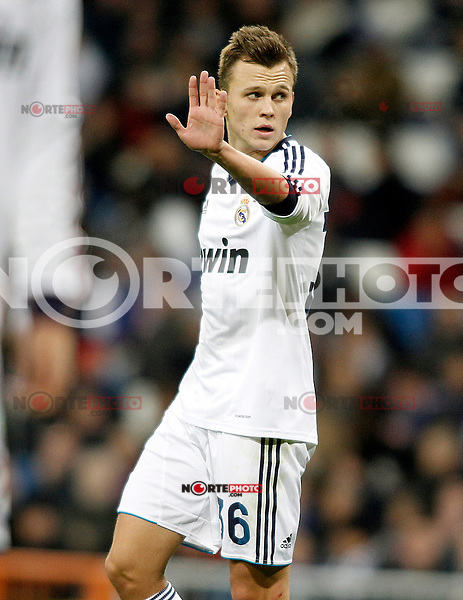 Real Madrid's Denis Cheryshev during Spanish King's Cup match.November 27,2012. (ALTERPHOTOS/Acero) /NortePhotoMx