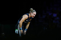 Andrea Hams of New Zealand acknowledges the crowd during the Women's 69kg Final. Gold Coast 2018 Commonwealth Games, Weightlifting, Gold Coast, Australia. 8 April 2018 © Copyright Photo: Anthony Au-Yeung / www.photosport.nz