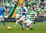 Celtic v St Johnstone &hellip;26.08.17&hellip; Celtic Park&hellip; SPFL<br />Michael O&rsquo;Halloran tackles Tony Ralston<br />Picture by Graeme Hart.<br />Copyright Perthshire Picture Agency<br />Tel: 01738 623350  Mobile: 07990 594431