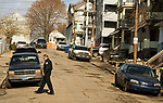 WATERBURY, CT-121917JS06---Waterbury police Capt. Daniel Later looks over some of the homes on Vermont Street in Waterbury on Tuesday. The city has launched a new blight department following a study about the extent of blight. <br /> Jim Shannon Republican-American