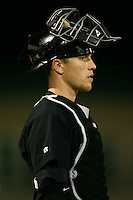 April 13, 2009:  Catcher Jameson Smith of the Jupiter Hammerheads, Florida State League Class-A affiliate of the Florida Marlins, during a game at Roger Dean Stadium in Jupiter, FL.  Photo by:  Mike Janes/Four Seam Images