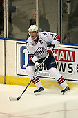 March 13, 2009:  Defenseman Rory Fitzpatrick (4) of the Rochester Amerks, AHL affiliate of the Florida Panthers, in the second period during a game at the Blue Cross Arena in Rochester, NY.  Toronto defeated Rochester 4-2.  Photo copyright Mike Janes Photography 2009
